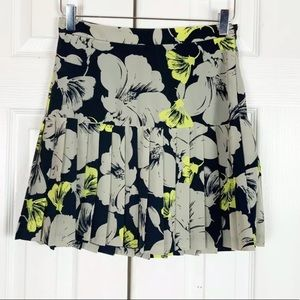 BANANA REPUBLIC MULTICOLOR FLORAL PLEATED SKIRT